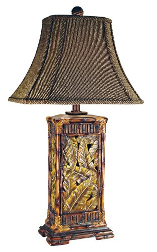 Palm Leaves Tropical Table Lamp