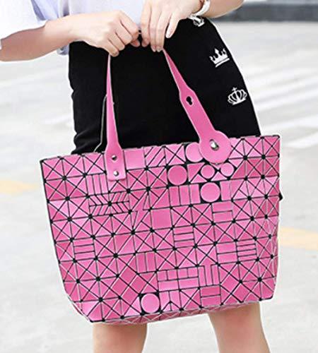 Lasers Sacs Sac femme Or pliants Shlbag Géométriques à main Bag Shopping Messenger q6wC0nFH
