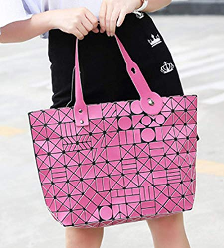 Borsa Pieghevoli Da Geometriche Borse Black Bag Shopping Donna Messenger Laser RCpRqB
