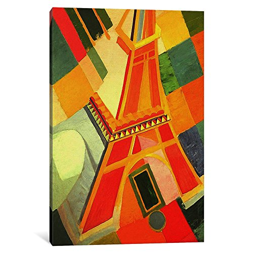 (iCanvasART 1-Piece Eiffel Tower Canvas Print by Robert Delaunay, 0.75 x 8 x 12-Inch)