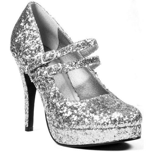 - Ellie Shoes Women's 421-Jane-G Maryjane Pump,Silver Glitter,8 M US