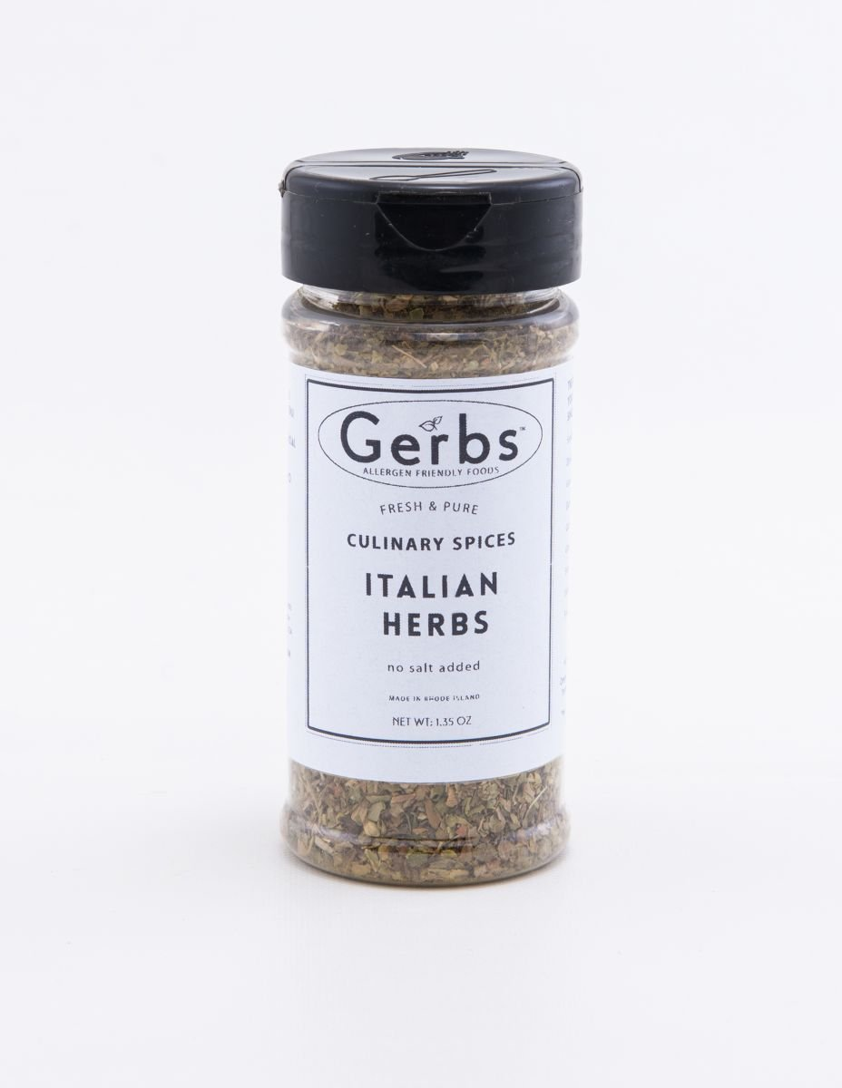 Italian Seasoning Blend - No Salt Added (Oregano, Basil, Marjoram, Thyme, Rosemary, Sage) by Gerbs - 2 Pack (1.35 oz.) Shacker Jar - Top 12 Food Allergen Free - Gourmet Chef Grade by GERBS
