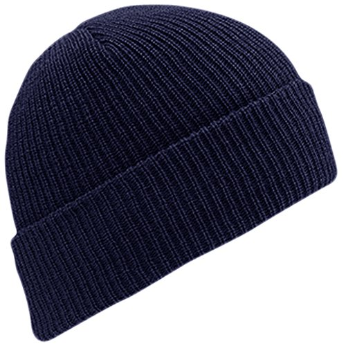 Navy Wool Watch Cap - WIGWAM MILLS INC F4707-586-OS WORSTED WOOL WATCH CAP,One Size,Navy