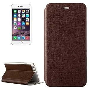 Oracle Horizontal Flip funda Case Carcasa de piel sintética con soporte para iPhone 6Plus (Brown)