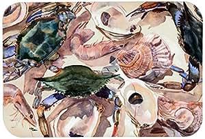 "Caroline's Treasures 8618JCMT ""Crab"" Kitchen or Bath Mat, 24"" by 36"", Multicolor"