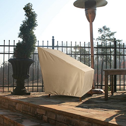Patio Armor SF46610 Ripstop High Back Patio Chair Cover, Taupe by Patio Armor
