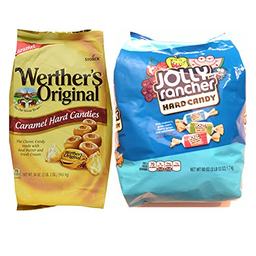 Werthers Bulk Hard Candy and Jolly Rancher Hard Candy; Easy Shopping For 2 Popular Candy Alternatives. THE Choice for Office, Home or Dorm. Vegetarian Friendly and Terrific Stocking Stuffers!