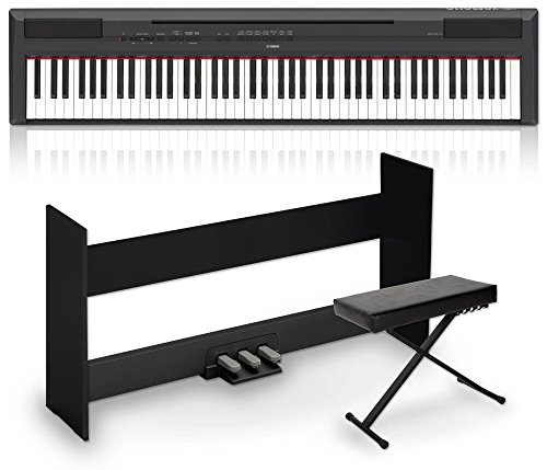 Yamaha P-115 88-Key Weighted Action Digital Piano Packages Black Advanced Home Package