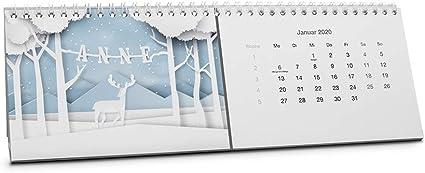 Calendario Anne, mesa Calendario 2018 como Calendario personalizada con nombre – START Mes de Enero 2018: Amazon.es: Oficina y papelería