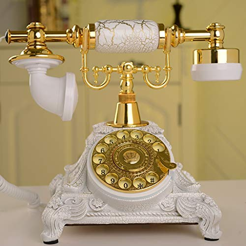 GJ Fine European Antique Telephone Retro Turntable Landline (Color : Multi-Colored) from GJ