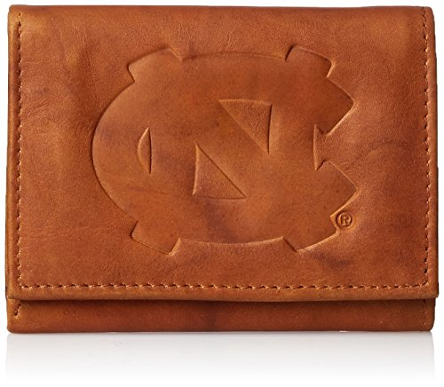 NCAA North Carolina Tar Heels Embossed Genuine Leather Trifold Wallet