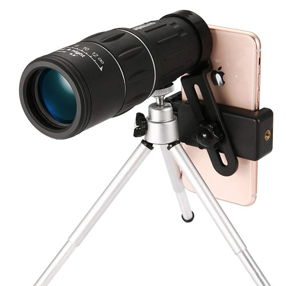 YYLOOKFAR Telescopio de un solo solo solo cilindro Telescopio monocular clásico 16x52 Sportting Alcance con soporte para teléfono y trípode para adultos Excursiones al aire libre Viajes Caza Juegos Telescopio u 2a6952