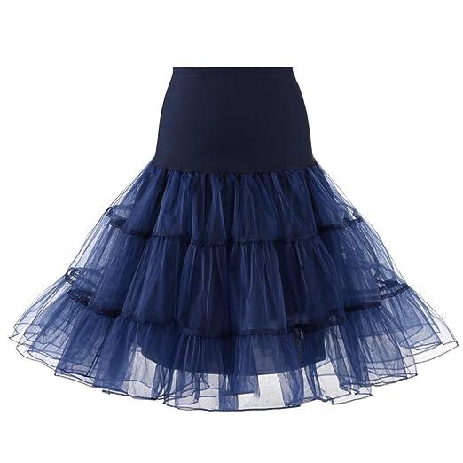 obiqngwi - Falda de Novia para Mujer, Falda de Tul, Azul Marino ...