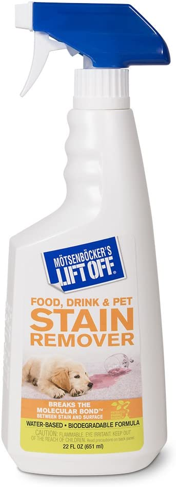 Motsenbocker's Lift Off 40501 22-Ounce Food, Beverage and Pet Stain Remover Spray Great as a Pre-Wash Laundry Treatment and Eliminates Tough Stains Water-Based and Biodegradable
