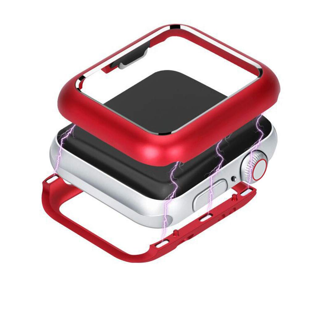 ABASSKY Magnetic Frame Watch Case Protective Cover for Apple Watch Series 4 44mm (Red) by ABASSKY (Image #3)