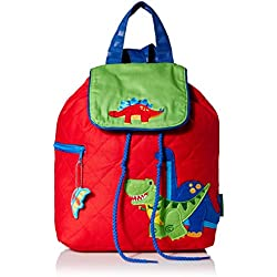 Stephen Joseph Boys' Quilted Backpack, Dino, 12 x 13.5