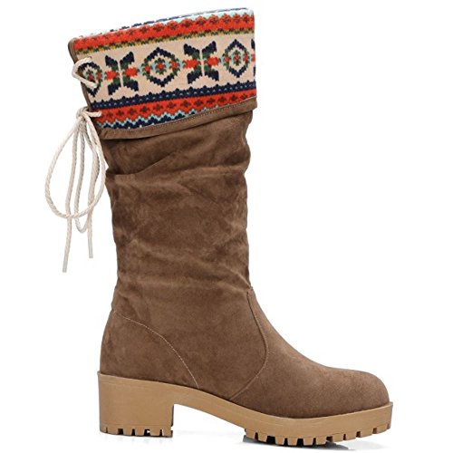 COOLCEPT On Pull Brown Boots Women Western 4fr41