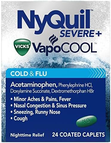 NyQuil Severe Vicks VapoCOOL Caplets