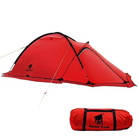 low priced 91749 ea50a GEERTOP 4-season 2-person 20D Lightweight Backpacking Alpine Tent For  Camping, Hiking, Climbing, Travel - With A Living Room