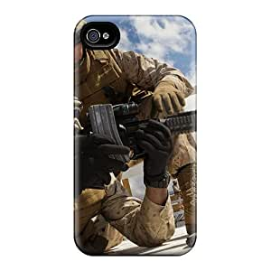 ChristopherWalsh Iphone 4/4s Shock-Absorbing Hard Phone Cover Provide Private Custom Attractive Army Pattern [JnW16926JiPI]