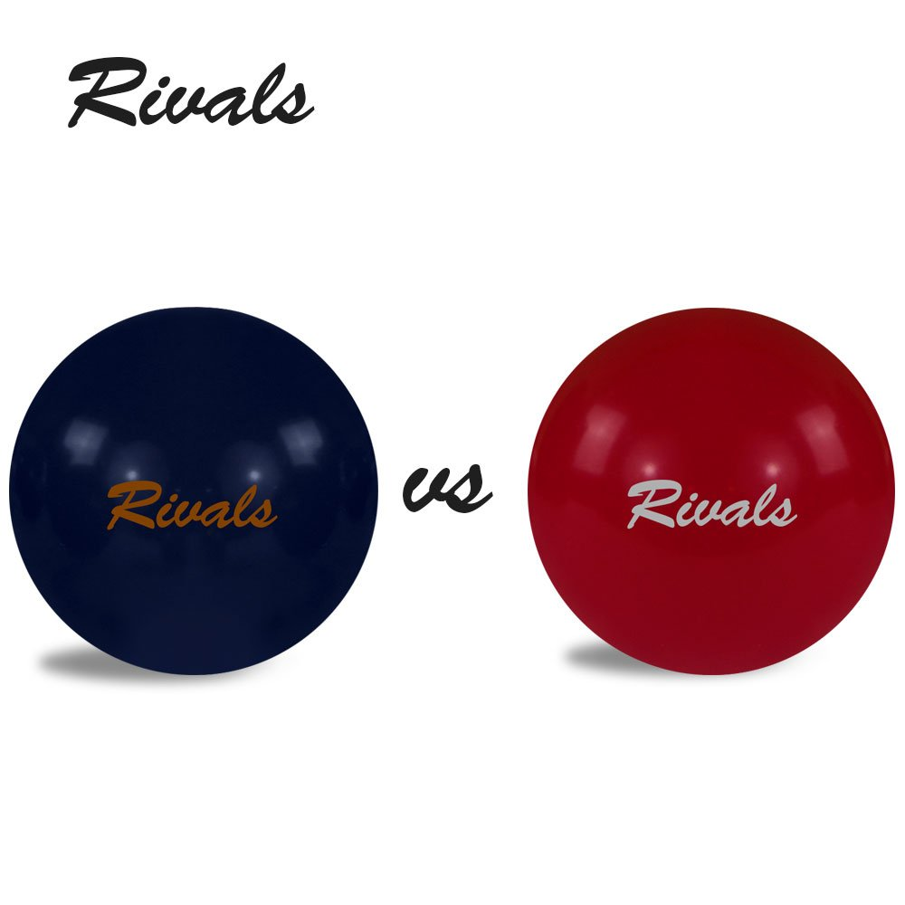 Rivals Bocce Ball Set Includes 4 Crimson and White Bocces Versus 4 Orange and Blue Bocces, 1 Pallino, Measuring Tape, and Carrying Case With Strap | Perfect For The College Fan and Game Day by Titan Performance Products (Image #6)