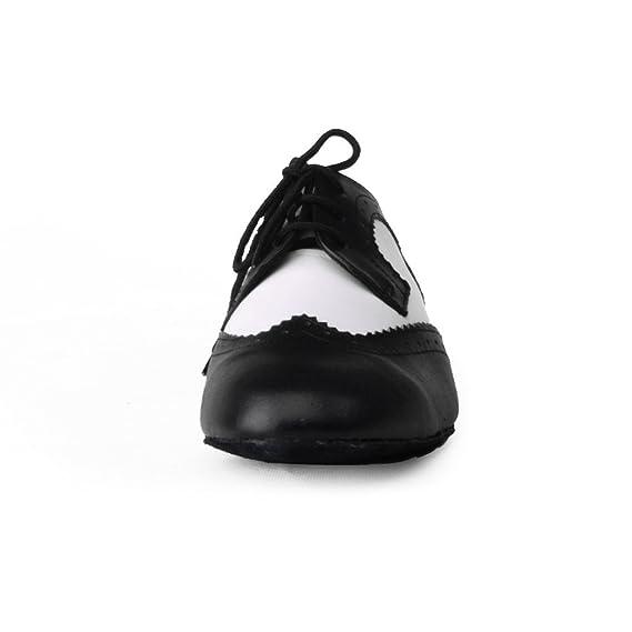 Jig Foo Salsa - Zapatillas de Baile para Hombre, Color Blanco, Talla 45