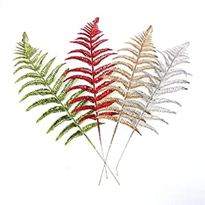 Inteeon Artificial Flowers 25Cm Christmas Flower Grass Hollow Discharge Class Simulation Fake Flower Leaf 113