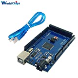 ! 10 sets /lot MEGA 2560 R3 ATmega16U2 ATMEGA2560-16AU USB board + free USB Cable For Arduino