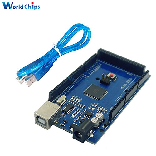 ! 10 sets /lot MEGA 2560 R3 ATmega16U2 ATMEGA2560-16AU USB board + free USB Cable For Arduino by Aigh Auality shop