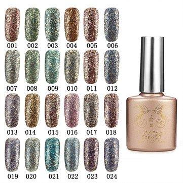 Nail Gel & Polish - 24 Colors Glitter Diamond-Sliver Micro Grain Nail Art Uv Gel Polish Soak Off Dreamlike - ()