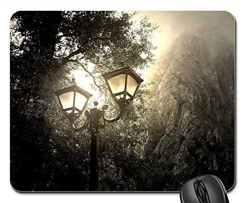 Mouse Pad - Wallpaper Mist Light Night Sky Outdoor Nature