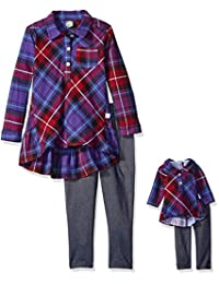 """Dollie & Me Big Girls' """"Cozy Cute"""" 2-Piece Outfit with Doll Outfit"""