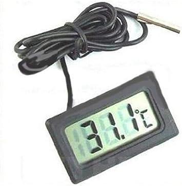 LCD Digital Aquarium Wasserthermometer mit weißer Sonde