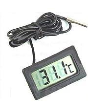 Doyeemei Termometro Digitale LCD Monitor di Temperatura con sonda Esterna Impermeabile per Acquario Frigorifero, Acquario Frigorifero Acquario Termodetector Temperatura Acqua