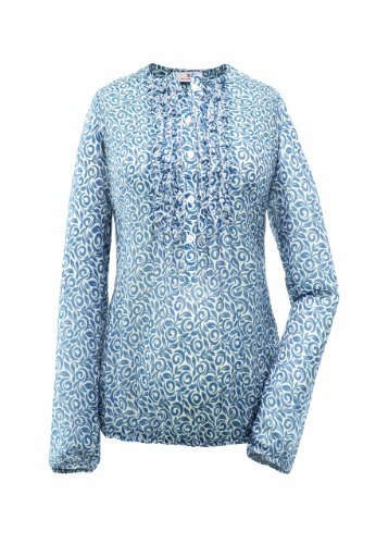 bellybutton Damen Umstandsmode Bluse 1018700-40101, Gr. 44 (XXL), Mehrfarbig (blue/white printed)