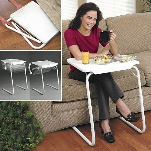 Adjustable Height ZQ House Plastic Pad Steel Tube Bracket Liftable Foldable Portable Multi-Purpose Laptop Table 30 Degrees 90 Degrees //180 Degrees Durable 60 Degrees Adjustable Angle 53-74cm