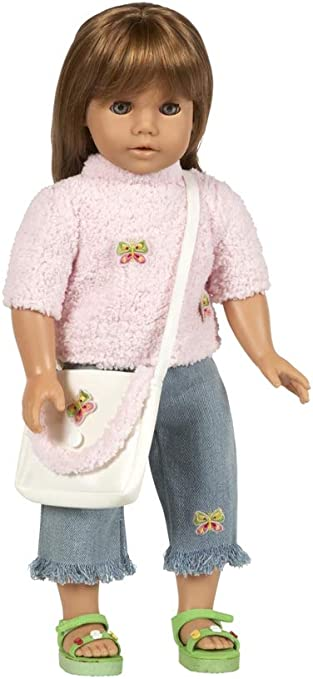 Knit Striped Sweater Coat Tube Tops Dress for 18/'/' AG American Doll Dolls Toys