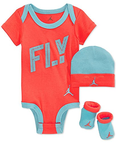 - Nike Michael Jordan Baby Girls' 3-Piece FLY Bodysuit, Hat & Booties Set, 0-6 Months