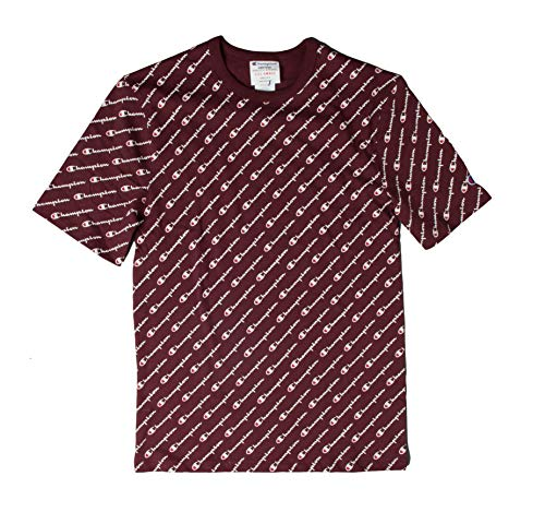 - Champion LIFE Men's Heritage Tee-All Over Script, Diagonal Maroon, X-Small