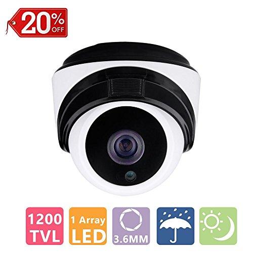 "COSOOS 1/3"" CMOS 1200TVL CCTV Home Security Weatherproof 1pc"