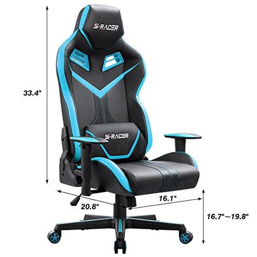 Homall S Racer Series Gaming Chair Executive Swivel Office Chair Ergonomic Racing Chair High Back Desk Pu Leather Computer Chair Tilt E Sports