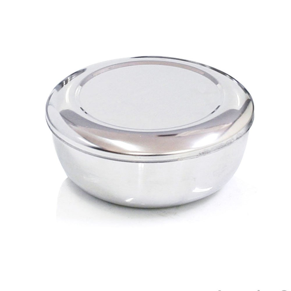 Korean Stainless Steel Rice Bowl + Lid Hygienic Sanitary Dish Kore Warm Bowl by Rice Bowl