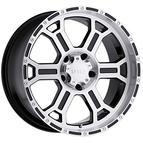 Vision 372 Raptor Gloss Black Wheel with Mirror Machined Face (22x9.5''/5x5'')