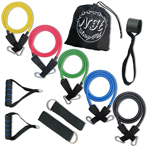 NH-Sport Resistance Bands + E-BOOK + BONUSES! Elastic Bands for Workout, Physiotherapy & More. BONUSES Carrying Pouch + Wrist Band + exercises E-BOOK by NH-Sport! JUST ADD IT TO YOUR TRAINING ROUTINE!
