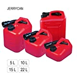 Very handy fuel tank 'JERRYCAN' with a spout l with the volume 5, 10, 15 or 22 l, made of HDPE Polyethylen