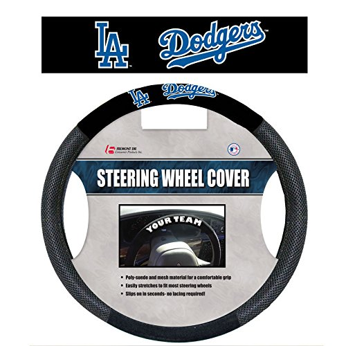- Infinity Stock MLB Poly-Suede and Mesh Steering Wheel Cover - Car Truck SUV & Van, Performance Speed Grip, Universal Size Fit 14.5