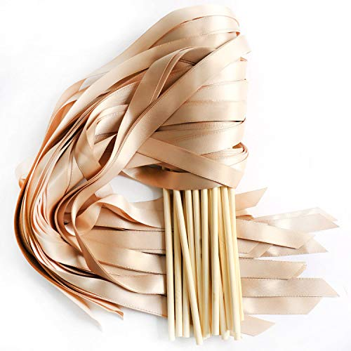 - LaRibbons 20pcs Single Color Ribbons Wand Sticks Wedding Party Favor