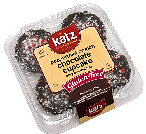 Katz Gluten Free Peppermint Crunch Chocolate Cupcakes, 10 oz. (Pack of 1)