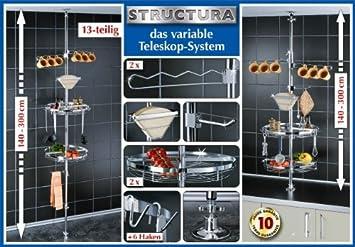 Structura regalsystem küchen set teleskopregal wenko tlg