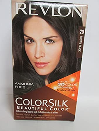 Revlon Colorsilk Beautiful Color Brown Black 20 Amazon In Beauty